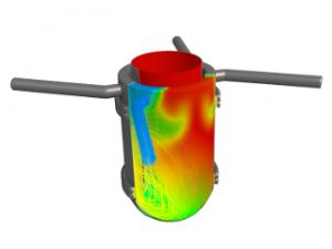 Calcul transitoire en convection naturelle: Etude de mélange en fond de cuve